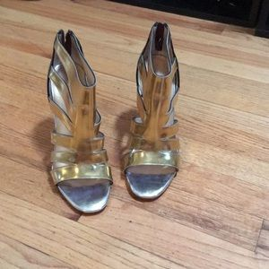 Christian Louboutin gold and bronze sandals 39